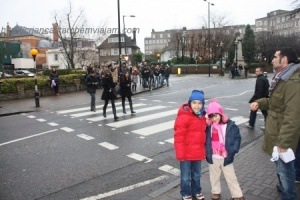 Dito e Iaiá na Abbey Road em Londres