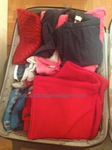 Manga longa, fleece, casaco, meias, gorros, cachecóis… tudo na mala de mão