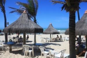 Barraca do hotel Vila Galé na Praia do Futuro